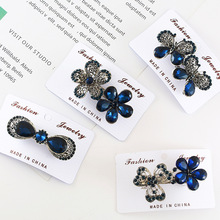 Korean Crystal Rhinestone Hairpin Women Flower Antique Silver Girls Metals Barrette Butterfly Hair Clip Hair Accessories Fashion crystal rhinestone butterfly barrette gentle hair clip hairpin gift fashion women girls