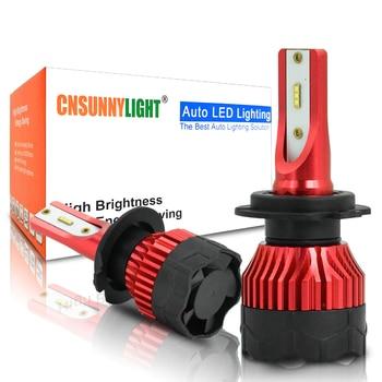CNSUNNYLIGHT K5 H4 LED H7 H11 H8 H9 H1 ZES Car Headlight Bulbs 9005 9006 H13 Headlamp Main Lights Better Than COB Auto Led Lamps