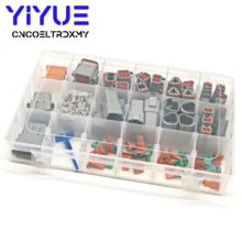 225Pcs Deutsch DT Otomotif Konektor Kit DT06/DT04 2/3/4/6/8/12 Pin + 16-18AWG Crimp Terminal + Removal Alat 0411-336-1605(China)