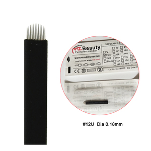 Image 5 - Extremely Thin 0.18mm Nano blades microblading needles Permanent Makeup Eyebrow Tattoo Needle Blade Microblade 3D Embroidery