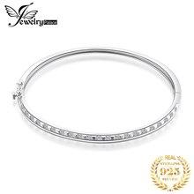JPalace Square CZ Silver Bracelet 925 Sterling Bangles Bracelets For Women Jewelry Making Organizer