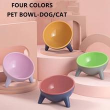 Cat/Dog 4 Colors Bowl Kitten Bowl Dog Bowl Transparent Material Food Bowl With Protection Cervical Transparent Cat Supplies