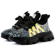 2019 Fashion Style Platform Gold Silver Chunky Sneakers Dad Shoes Basket Femme Women Vulcanize Y020