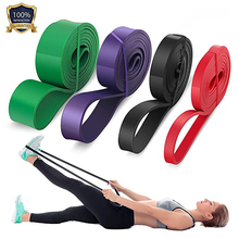 цена 208cm Resistance Bands Exercise Elastic Band Natural Latex Rubber Loop Workout Training Expander Pilates Fitness Equipment онлайн в 2017 году