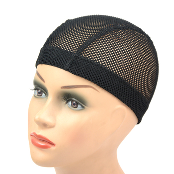 1Pcs Big Hole Mesh Dome Wig Cap Hair Nets Large Black Caps To Make Wigs With Elastic Band Wave - sale item Hair Tools & Accessories