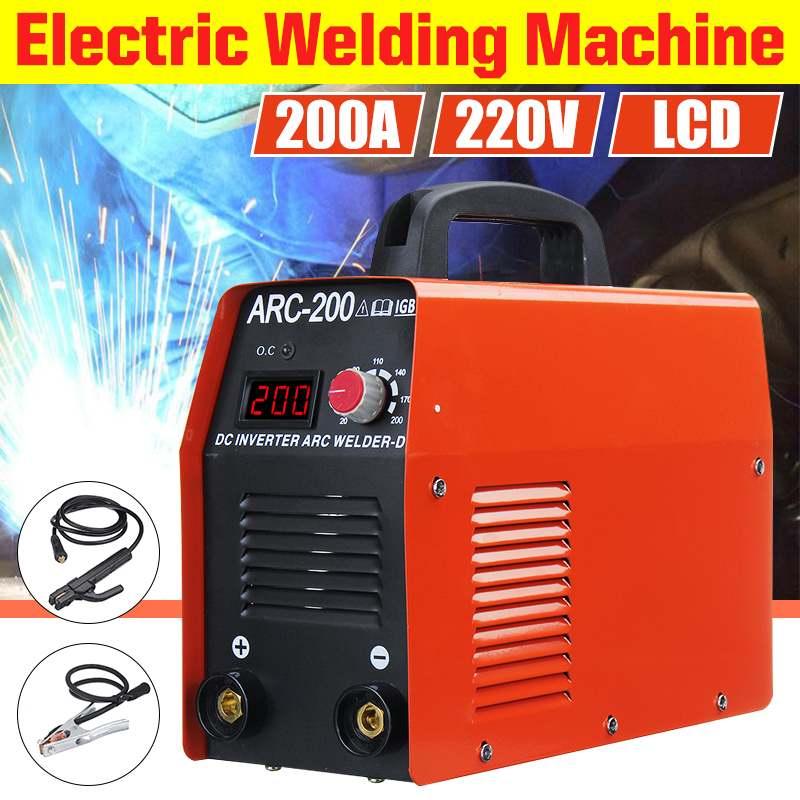 1 набор 220В 20-200а дуговой сварочный аппарат цифровой дисплей ММА Дуговой ZX7-200 сварочный инвертор усовершенствованный факел сварочные инстру...