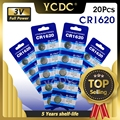 YCDC 20 stücke Lange Anhaltende Großhandel CR1620 1620 ECR1620 KCR1620 BR1620 Taste Batterie 3 V Volt CR1620 Lithium-ionen münze Batterie