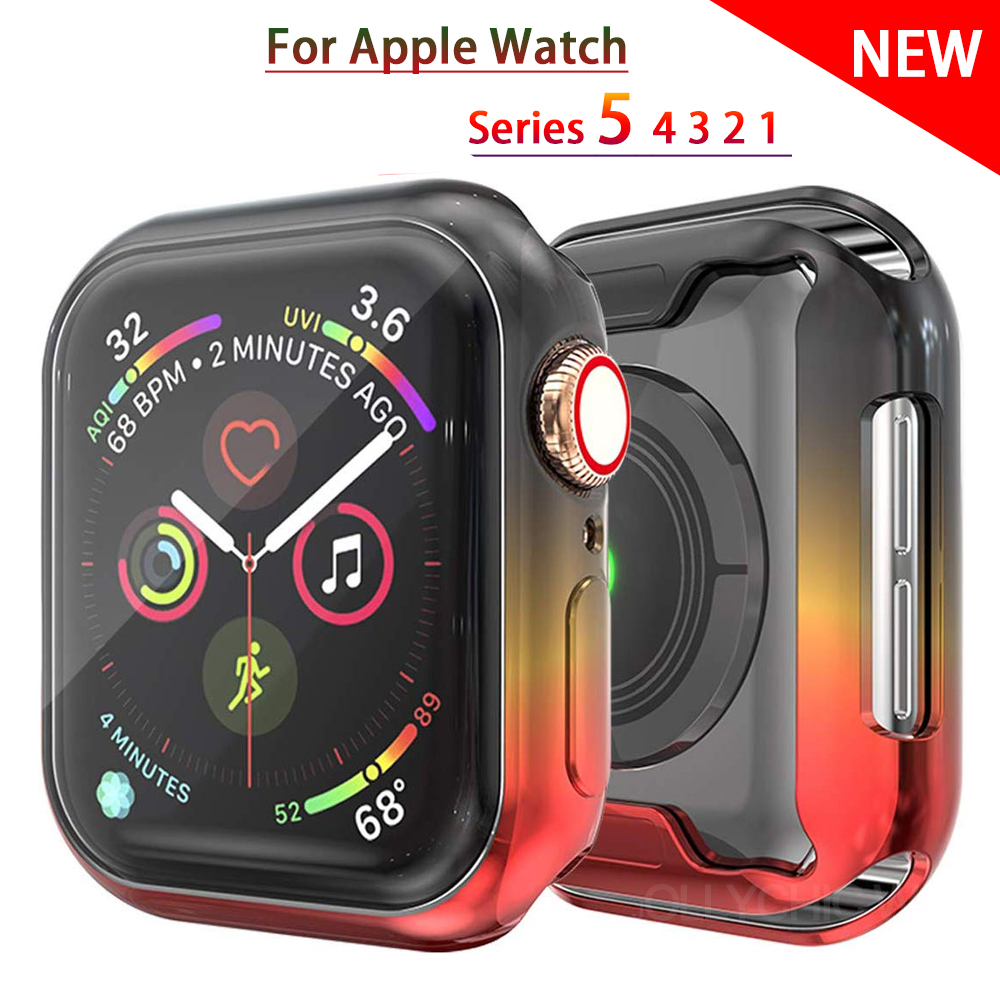 Watch Cover Case For Apple Watch 5 Series 5 4  Band Case  40mm 44mm Slim TPU Case Protector For IWatch 5 4 44mm Protective