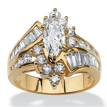 Gold-Ring Gift Marriage Fine Jewellery Bridal-Engagement White Women's Luxury Propose