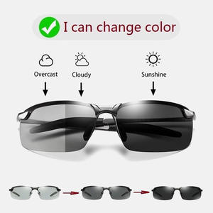 Photochromic Sunglasses Eyewear Driving Night-Driver's Change-Color Polarized Male Day