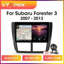 Автомобильная Мультимедийная система Vtopek, на Android, с 9