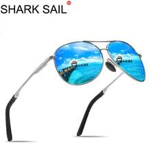 SHARK SAIL Aviation Metail Frame Oversized Spring Leg Alloy Men Sunglas