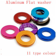 10-20 pçs/lote M3 M4 M5 M6 M8 Corlorful Alumínio Flat Junta washer para RC parte