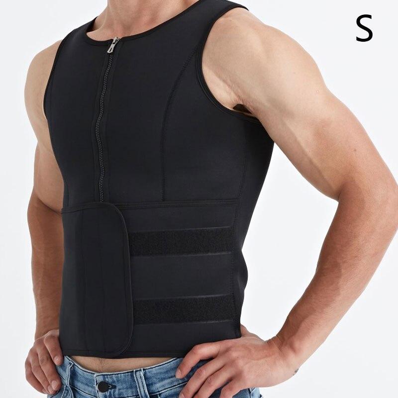 Men's Sauna Suit Sweat Vest Tank Top Neoprene T-Shirt Body Shaper Waist Trainer