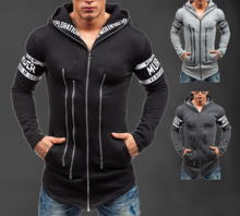 Print Letter Mens Hoodies Sweatshirts Hat Men Hoody Cotton  Autumn Winter Clothing New Desige