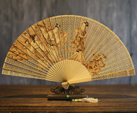 Hollow Out Classical Gift Fan Suzhou Sandalwood Fan Wenwan Arts And Crafts Sandalwood Fan Folding Fan China Wind