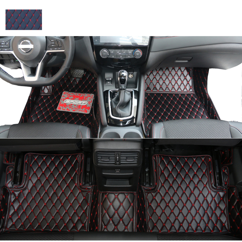 lsrtw2017 leather car floor mats for <font><b>nissan</b></font> <font><b>qashqai</b></font> rogue sport 2006-2020 2019 2018 <font><b>2017</b></font> 2008 2011 2013 2012 J10 J11 <font><b>accessories</b></font> image