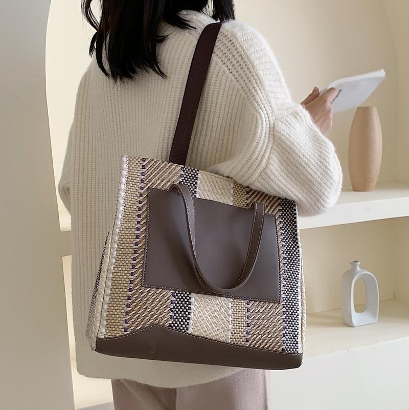 2020 Vintage Korean Style Fashion Leather Bucket Bags Luxury Handbags Crossbody Bags for Women Shoulder Bags Designer Sac A Main