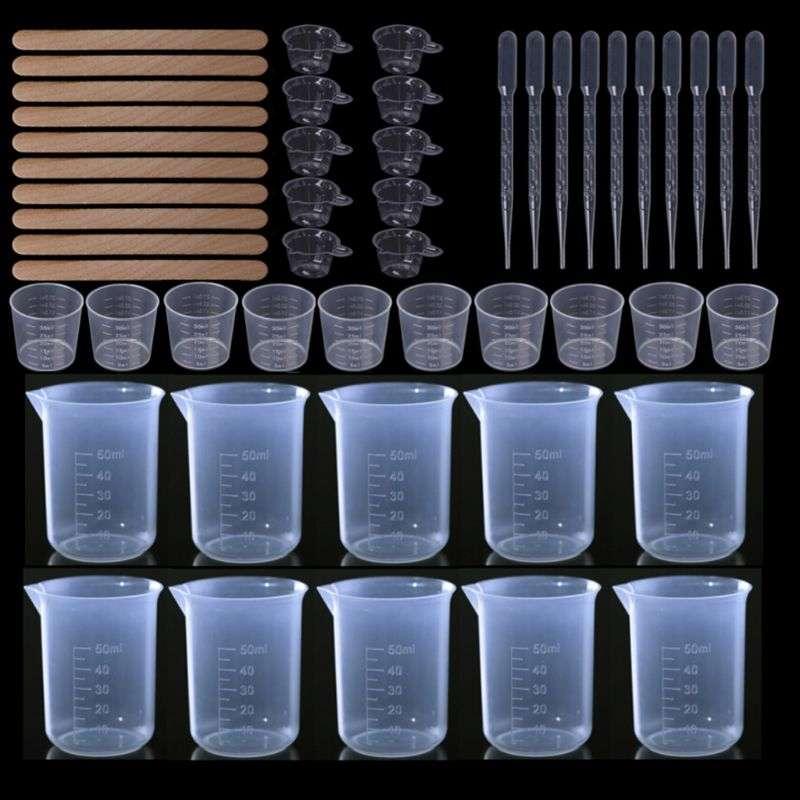 DIY Crystal Epoxy Dispensing Mixing Stirrer Dropper Measuring Cup Crafts Making