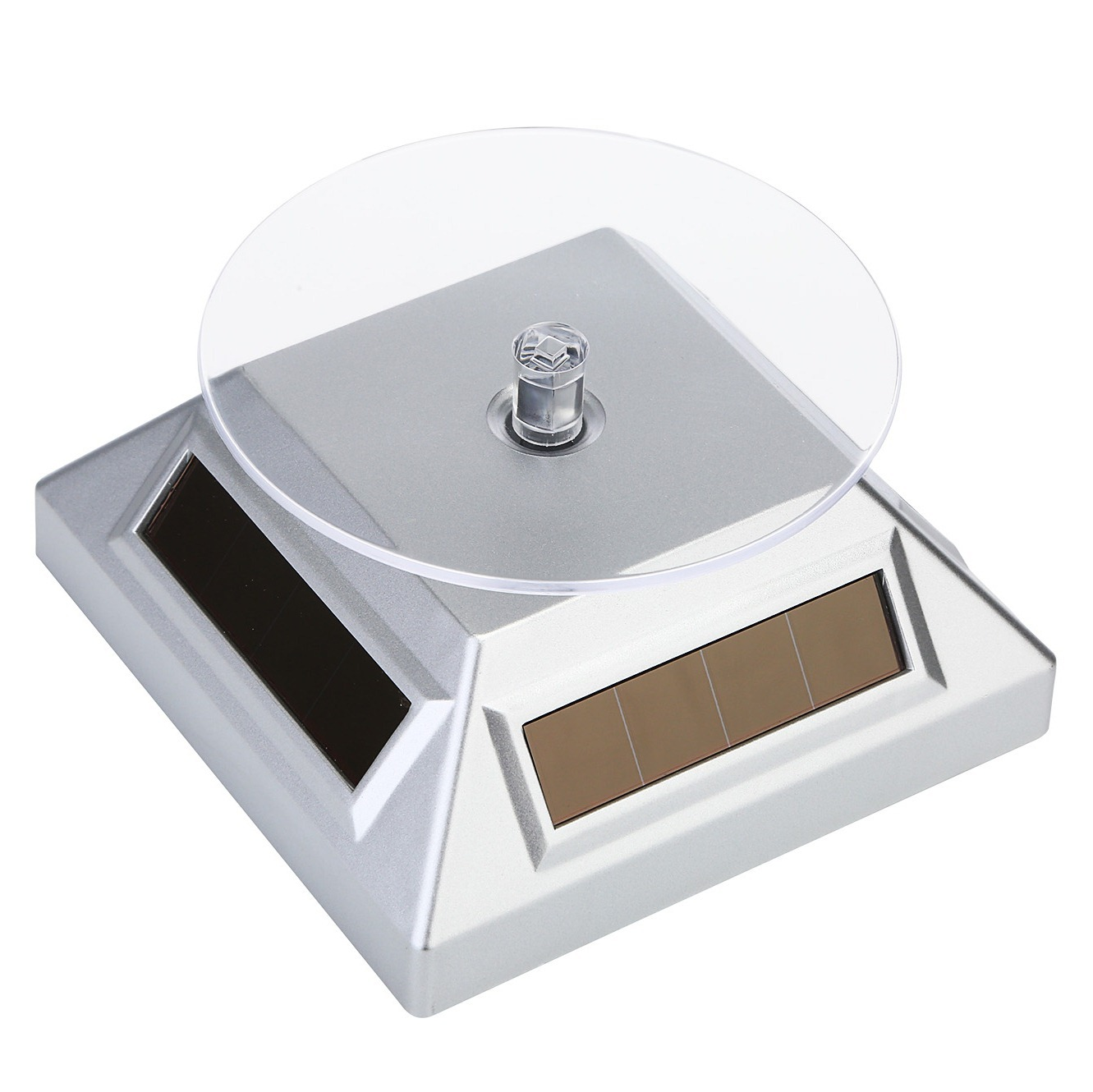 Solar Rotating Turntable Dual-Use Display Stand Jewelry Jade Jewelry Showing Stand Small Commodity Base