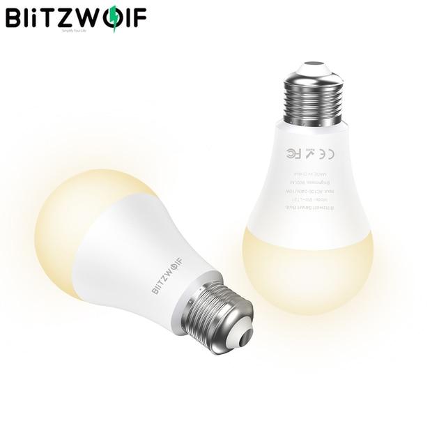 BlitzWolf Lámparas LED inteligentes, BW LT21, 3000K + RGB, Wifi, con Control por aplicación remota, compatible con Amazon para Echo, Google Home