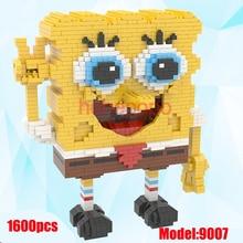 1600 قطعة 9007 الاعلى مبيعا كتل سحرية سبونجبوب حجم كبير لبنات الانيمي نموذج حركة صغير لعب هدايا للاطفال