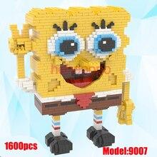 1600pcs 9007 Hot Selling Magic Blocks SpongeBob Big Size Building Blocks Anime Bricks Mini Action Model Toys for Children Gifts