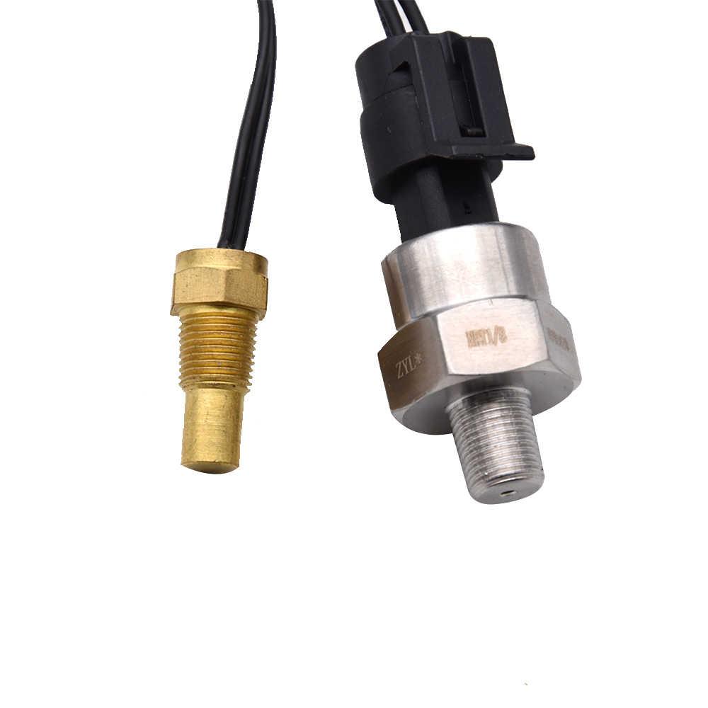 12 v/24 v 자동차 트럭 LCD 디지털 연료 레벨 오일 압력 게이지/볼트 전압계/수온 게이지/연료 게이지 4 기능 1