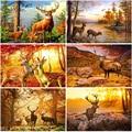Full Square/Round Diamond Painting Elk 5D Cross Stitch Mosaic Embroidery Animals Rhinestone Pictures Diamond Art Kit Wall Art