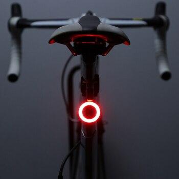 Zacro Multi tryby oświetlenia lampa rowerowa USB Charge Led rowerowy lampa błyskowa tylne światła rowerowe dla gór Bike sztyca