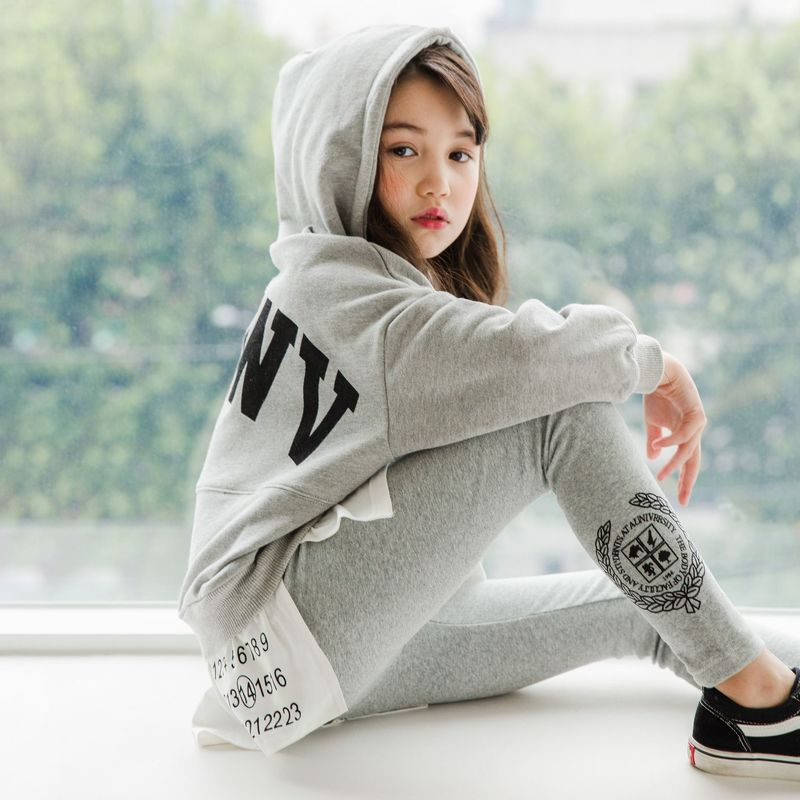 Image 5 - High Quality New Spring Fall Teens Girls Sports Set Female Kids Casual Sweater Suit Children Clothes Teenagers Tracksuits CA578Clothing Sets   -