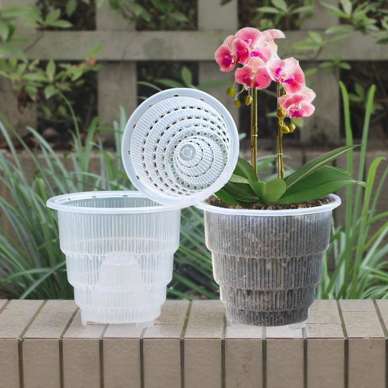 5 6 7 Inch Plastic Clear Succulent Orchid Pot Planter Container Flower