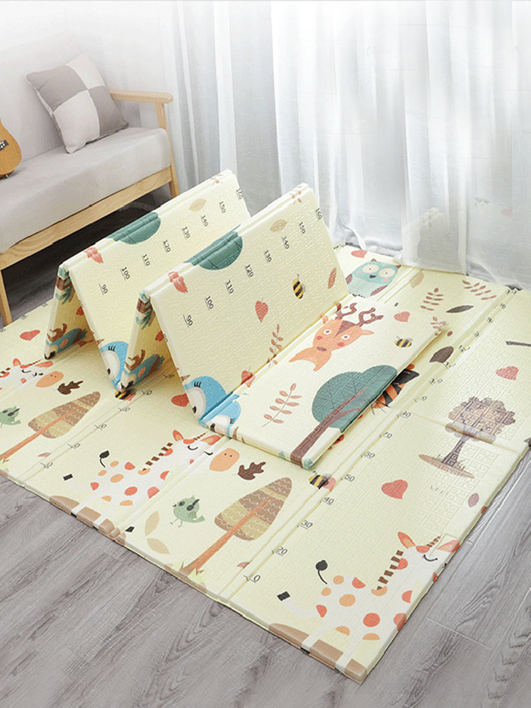 Hce2776606dae49589f4e11eb2112ae318 Thick Educational Children's Mat XPE Foldable Baby Mat Developing Kids Rug Road Game Playmat Soft Floor