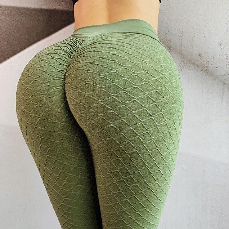 Women's Seamless Fitness Push Up Leggings Women Jacquard Stereo Shaped Hip Lift Sweatpants High Waist Hip Workout Leggings
