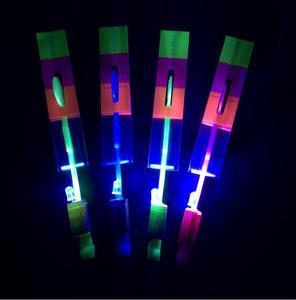 Детская игрушка 50 шт y-образный случайный цветной прямой светильник, летающая игрушка со стрелками, светодиодный светильник, ing Flash Toys, вечер...