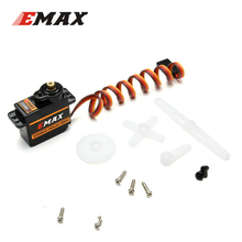 10PCS EMAX ES08MA II 12g Mini Metal Gear Analog Servo for for RC Motor Replacement Part Shockproof and Stable RC Servomotor