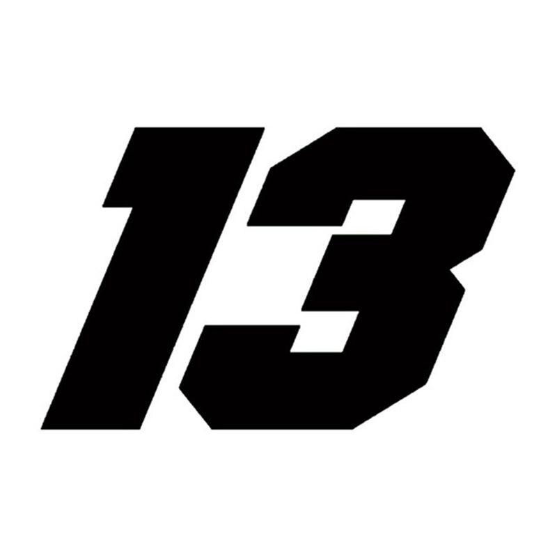 15*10.3cm etiqueta do carro número 13 reflexivo moto auto decalque engraçado jdm vinil na motocicleta estilo do carro etiqueta para yamaha suzuki