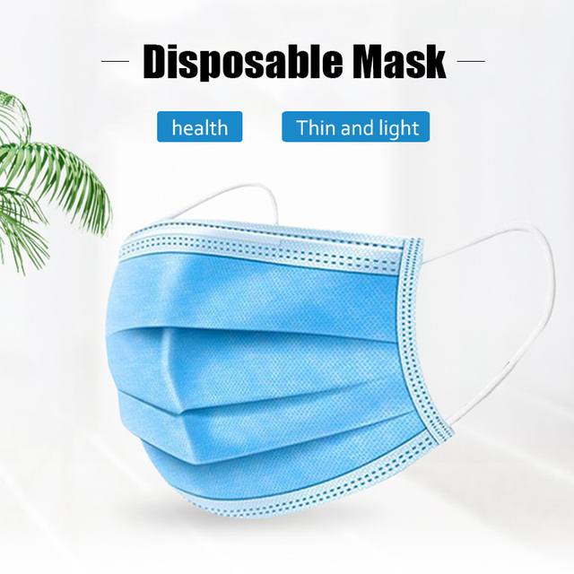 Earloop Face Mouth Nose Cover Masks 10pcs Dustproof Disposable Mouth Masks Protection Anti Dust Flu Pollution 2