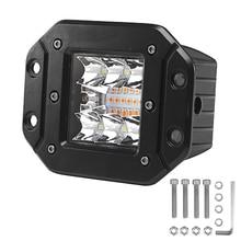 1 Or 2PCS 6 Modes18W Dual Color Square LED Work Light Bar Spot Flood Bumper Truck Driving Fog Lights