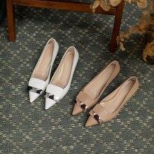 • Scarpe da donna scarpe scarpe in vera pelle a punta tacco sottile decorazione in metallo D22-Imini-TX03-33