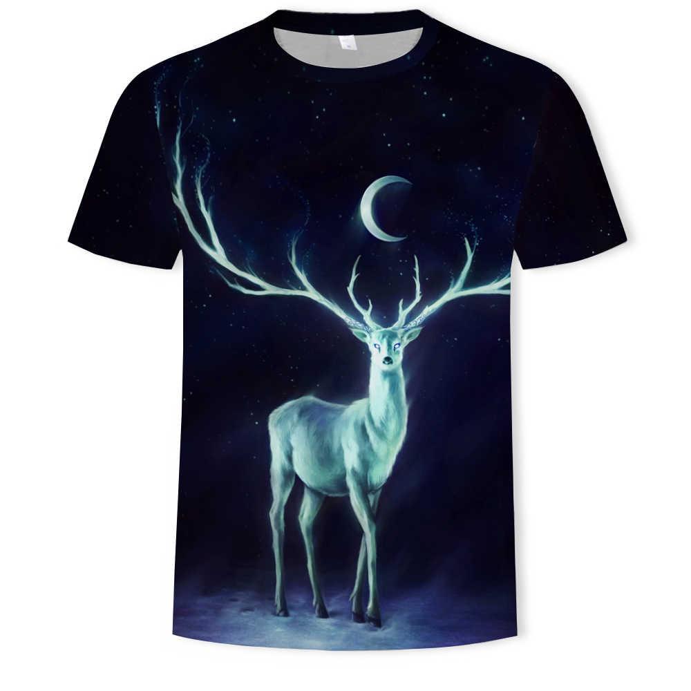 2019 nowy Tiger T shirt zwierząt 3d T-shirt Punk druku koszulki z krótkim rękawem Gothic Plus rozmiar odzież męska śmieszne Tshirt mężczyźni z krótkim rękawem duży Slim