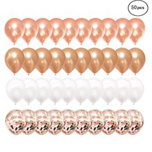 ISHOWTIENDA 50 pcs party balls Pink Gold Pearl White Balls Party decorations for Celebration Decoration Birthday Wedding#830y50(China)