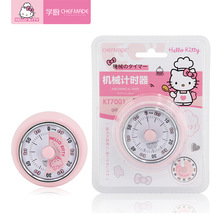 Hello Kitty Kitchen Cute Lady Refrigerator Magnet Mechanical Timer Set Time Remi