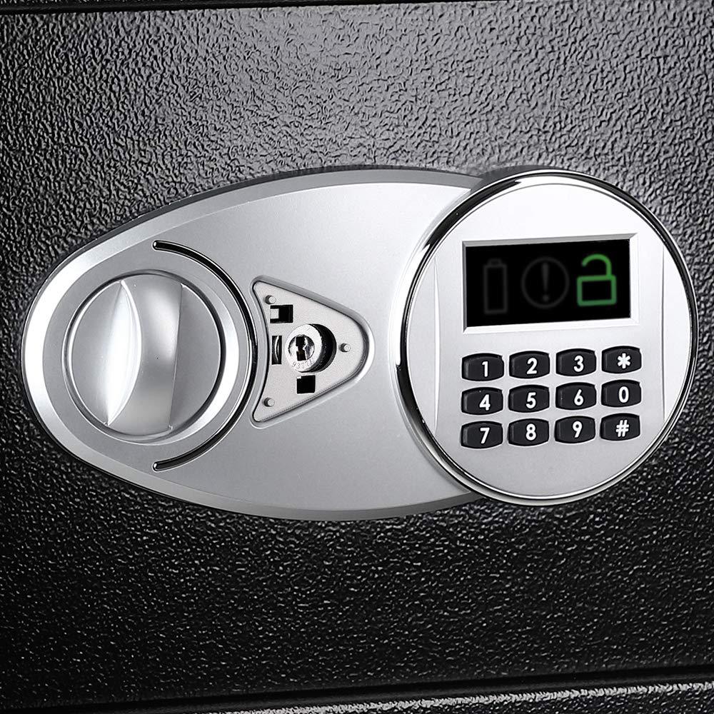 Security Luxury Digital Depository Drop Cash Safe Box Jewelry Home Hotel Lock Keypad Black Safety Security Box 35X25X25cm (2)