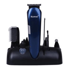 Kemei 5 in 1 Rechargeable Hair Clipper for Men Electric Shaver for Men Electric Razor Nose Ear Hair Trimmer Beard Trimmer KM-550 цены онлайн