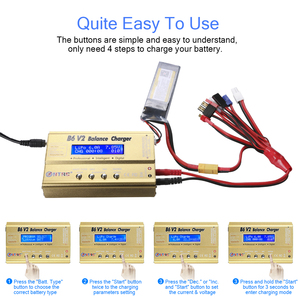 Image 5 - HTRC Imax B6 V2 80W 6A RC Balance Charger For LiIon/LiFe/NiCd/NiMH/High Power Battery LiHV 15V 6A AC Adapter IMAX Charger