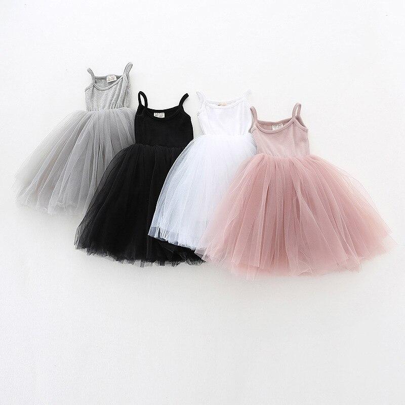Kids Party Dresses For Girls  Summer Sleeveless Children Casual Wear Girls Dresses Birthday Baby Girls Clothes Vestido 3-8 Years 1
