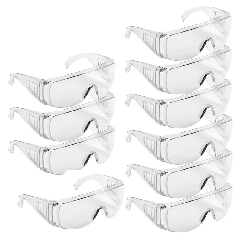 10 PCS Anti Chemical Splash Dust Safety Protective Glasses Breathable Protection Goggles