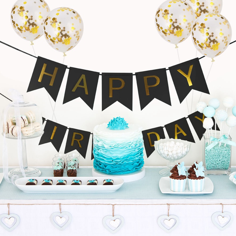 <font><b>1</b></font> Set Happy <font><b>Birthday</b></font> Letter Banner Rose Gold Confetti Balloons Baby Shower <font><b>Birthday</b></font> Party <font><b>Decorations</b></font> Boy <font><b>Girl</b></font> Kids Party Favors image
