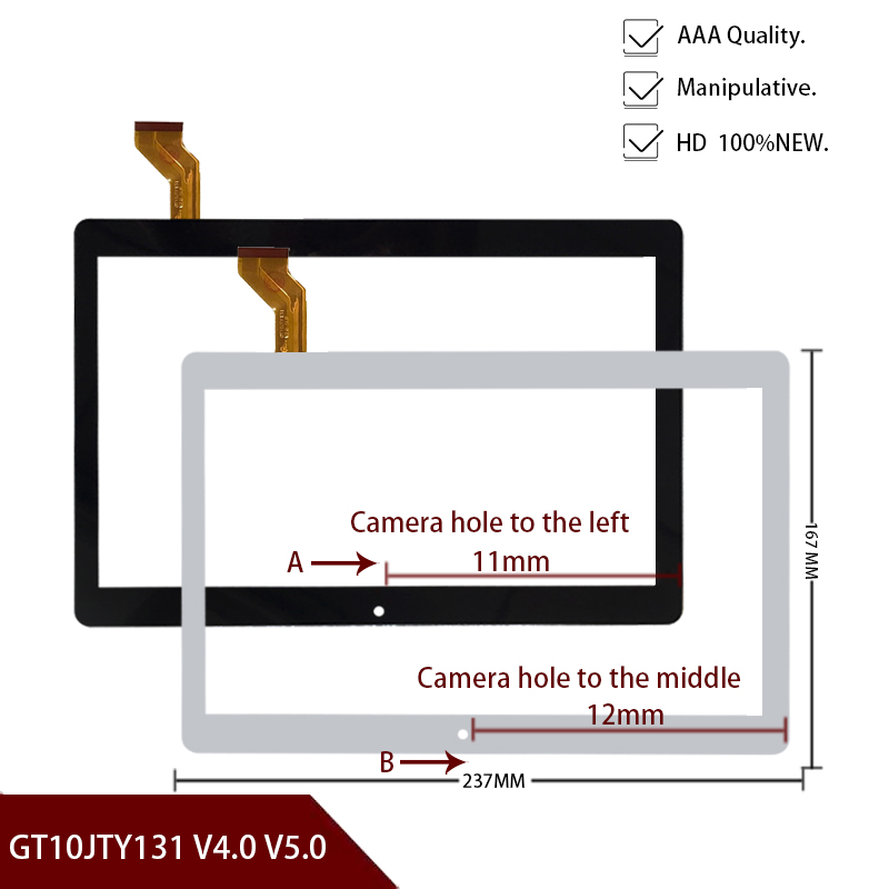 Original New 10.1'' Inch For Capacitive Touch Screen Panel Digitizer Glass Sensor GT10JTY131 V4.0 V5.0 Free Shipping